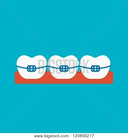Braces vector illustration. Braces vector isolated on white background. Braces vector icon illustration. Braces vector isolated vector. Braces vector flat silhouette