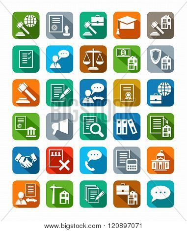 Legal Services, Icons, Color ...