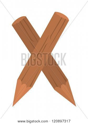 Stake pole vector illustration. Stake pole isolated on white background. Stake pole vector icon illustration. Stake pole isolated vector. Stake pole silhouette