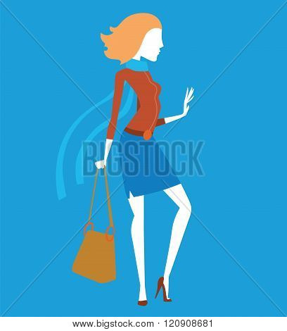 Fashion model girls vector illustration