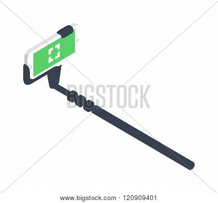 Selfie stick vector illustration