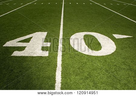 Forty yard line