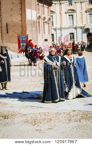 Nobles In Medieval Costumes