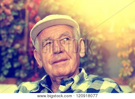 Smiling Senior Man Portrait