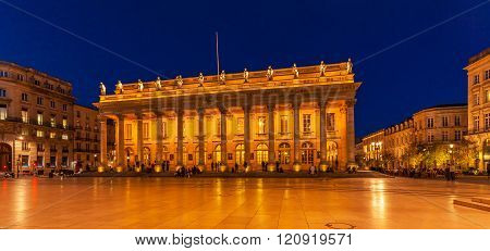 Grand Theater At Night,  Bordeaux