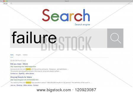 Fail Failed Failing Failure Fiasco Defeat Collapse Concept poster