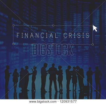 Financial Crisis Downturn Banking Business People Concept