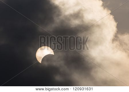 Partial Eclipse In Thailand