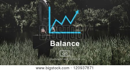 Balance Funds Financial Graph Interface Concept