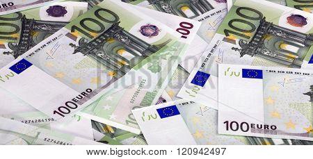 Europe Euros Banknote Of Hundreds