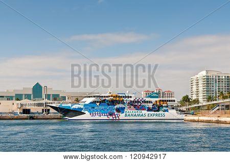 Passenger Ship Pinar del Rio of the Balearia Bahamas Express, Fort Lauderdale, FL