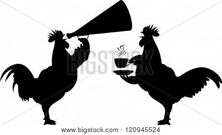 crowing rooster - icons