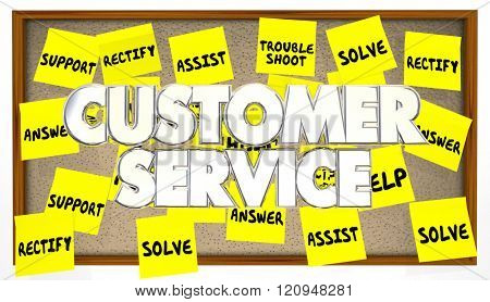 Customer Service Support Help Assistance Solve Problem Sticky Notes