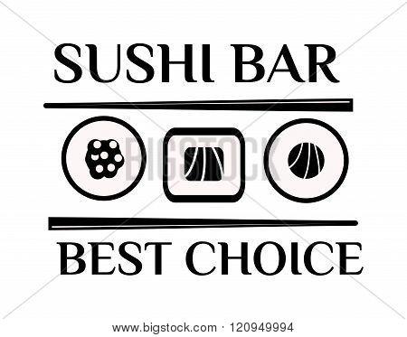 Sushi logo vector illustration