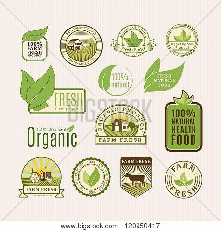Eco badge organic food
