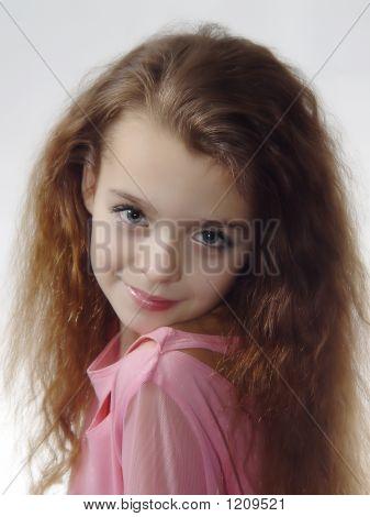 Little Girl Expressing Photo Model