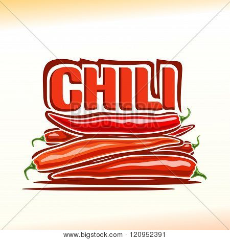 Vector illustration on the theme of chili pepper