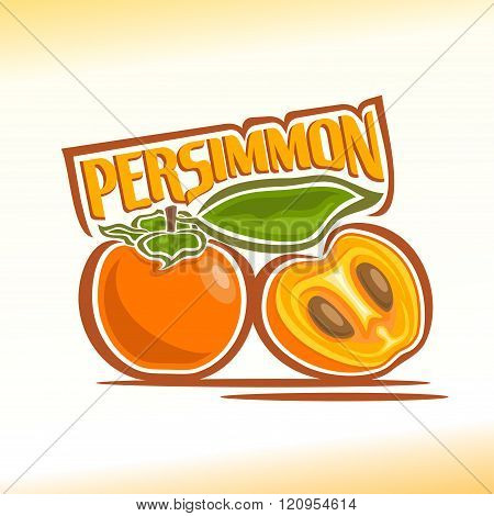 Vector illustration on the theme of persimmon