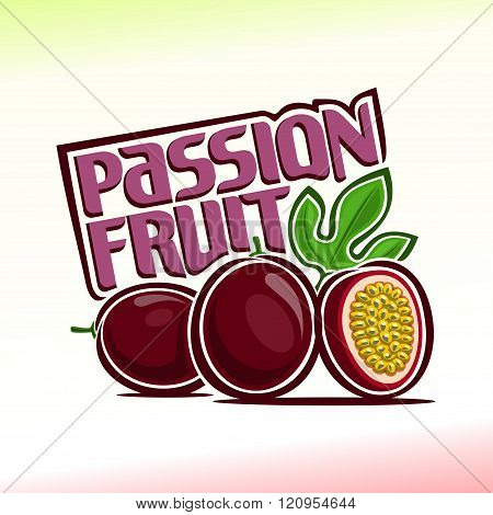 Vector illustration on the theme of passion fruit
