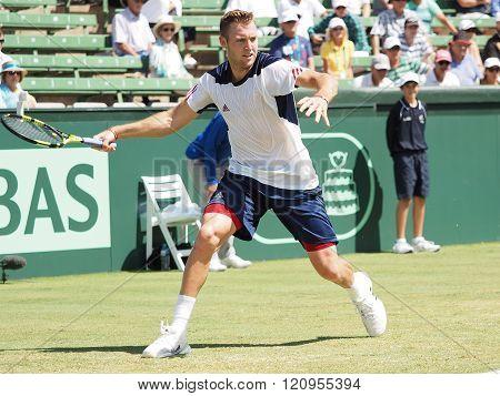 Jack Sock at The Davis Cup vs Australia
