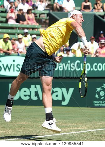 Sam Groth During Davis Cup Singles Ag
