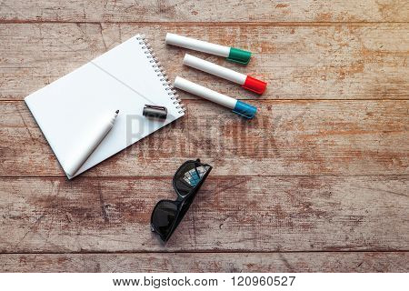 Top view photo of business objects