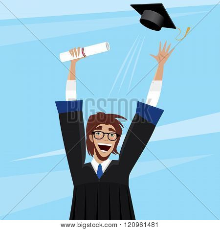 Student Enjoys Graduation