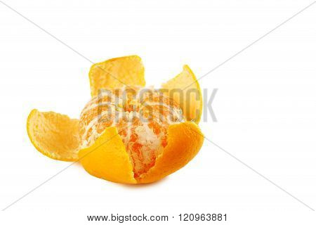 Ripe mandarins isolated on a white