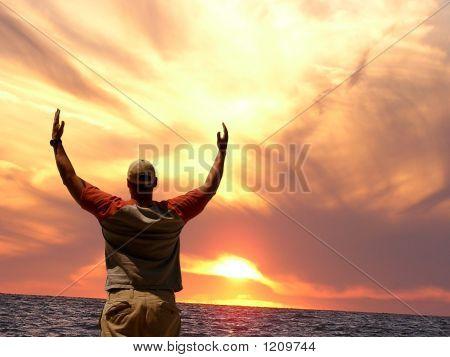 Worshipping At Sunset
