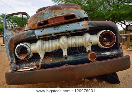 Abandoned Old Ford Car