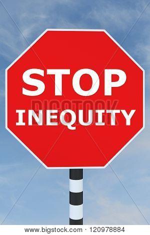 Stop Inequity Concept