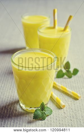 Yellow Liquid In A Glass