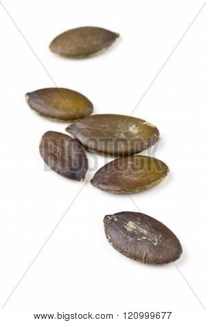 Unshelled Pumpkin Seeds Macro