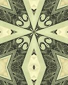 kaleidoscope cross from photo of twenty dollar u.s. bill poster