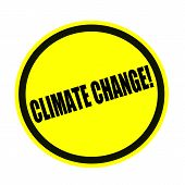 Climate change black stamp text on yellow poster