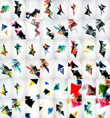 Rapid geometric motion concepts. Set of triangle abstract backgrounds poster