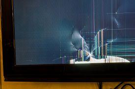 Broken LCD tv