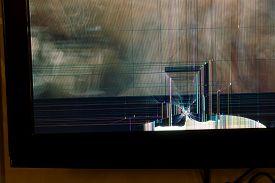 Broken LCD tv screen