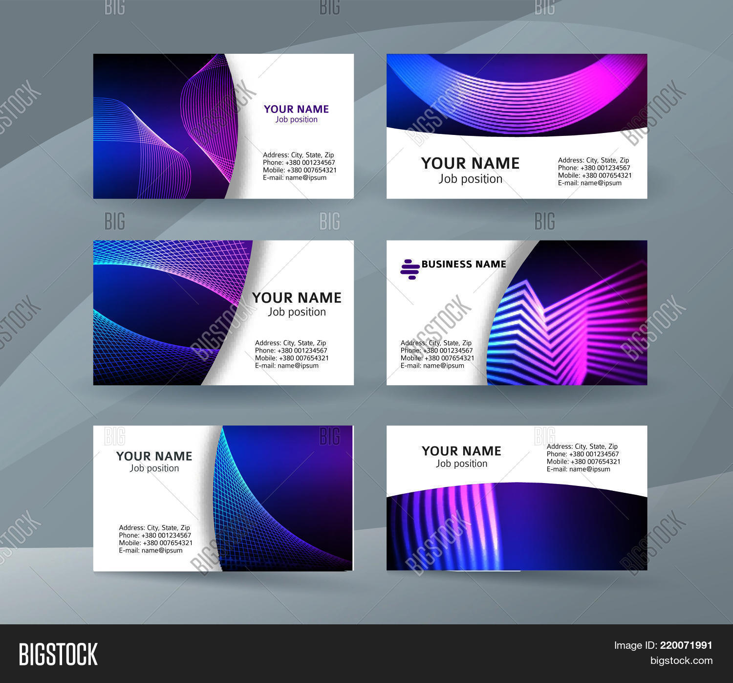 Abstract professional vector photo free trial bigstock abstract professional and designer business card template or clear and minimal visiting card set name reheart Image collections