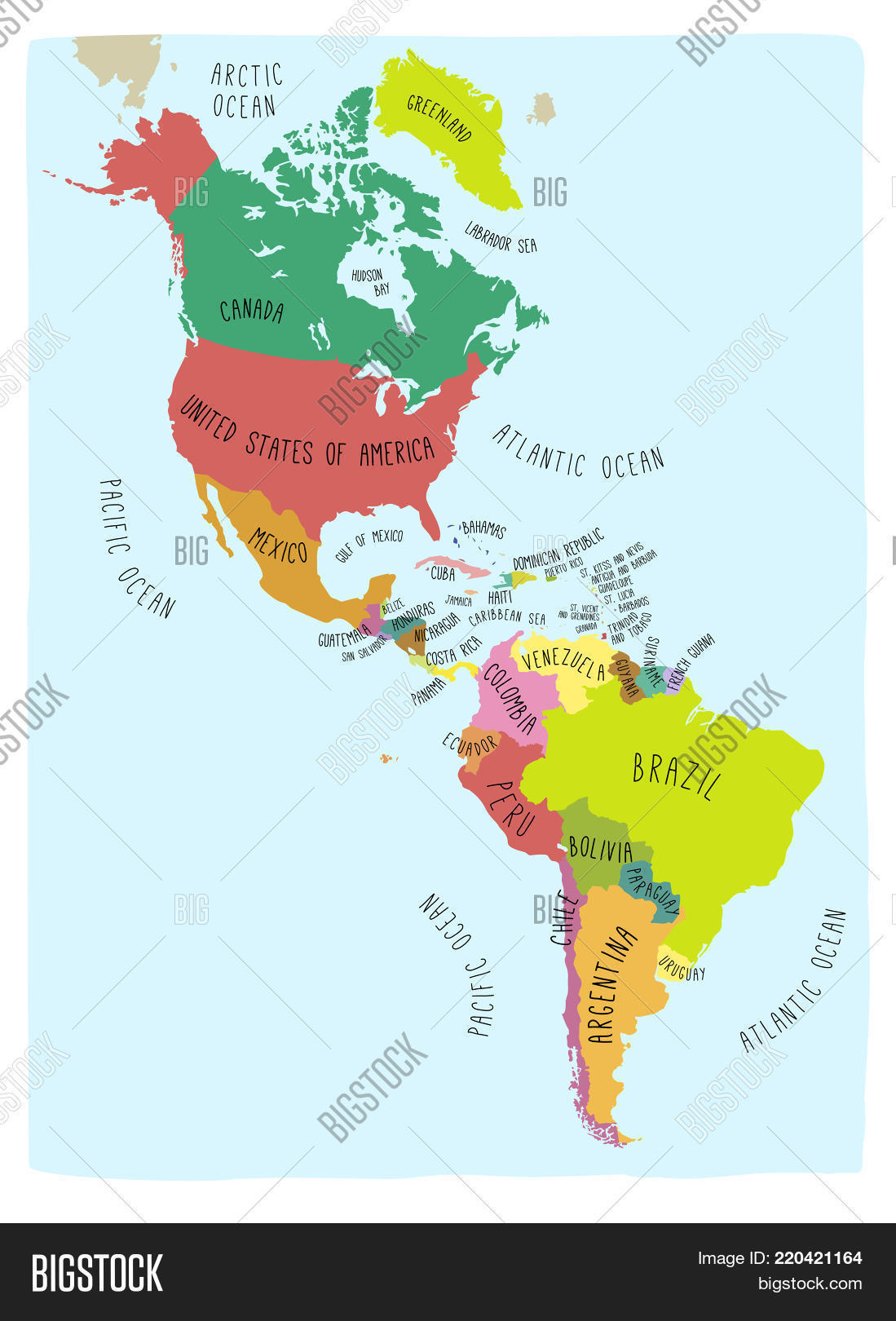Free Vector Map Of North America.Hand Drawn Vector Map Vector Photo Free Trial Bigstock