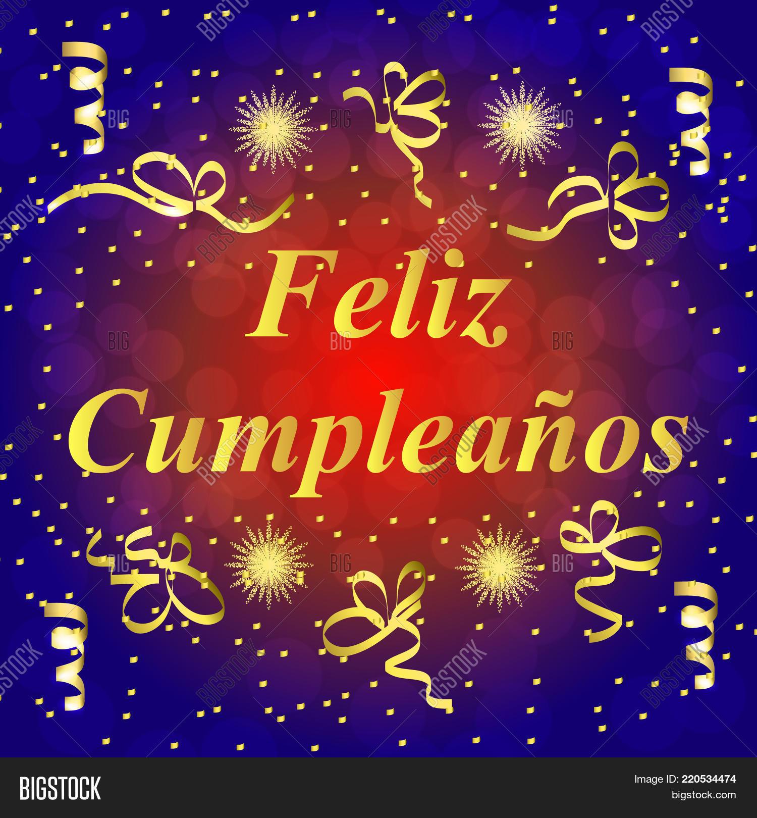 Happy Birthday Spanish Image Photo Free Trial Bigstock