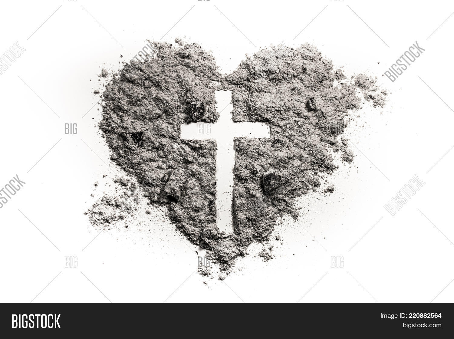 Cross crucifix heart symbol made image photo bigstock cross or crucifix in heart symbol made of ash sand or dust as jesus christ buycottarizona