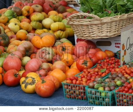 A Variety Of Tomatoes For Sale