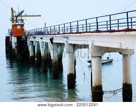 Old pier on Tioman Island Malaysia