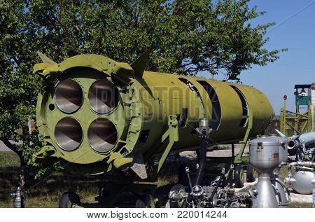 Main reason of Caribbean Crisis.SS-4 Sandal (R-12, 8K63).Museum of Soviet Strategic Nuclear Forces..POBUGSKOE, UKRAINE - September 2, 2017
