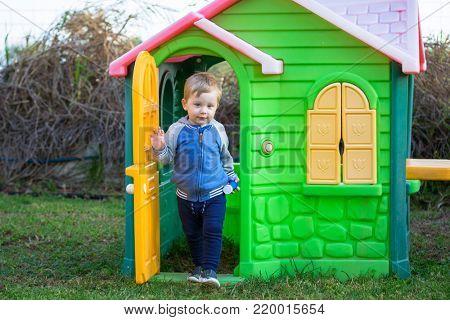Little boy in the playground