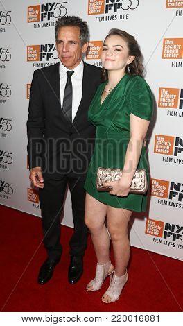 NEW YORK-OCT 1: Ben Stiller (L) and daughter Ella attend