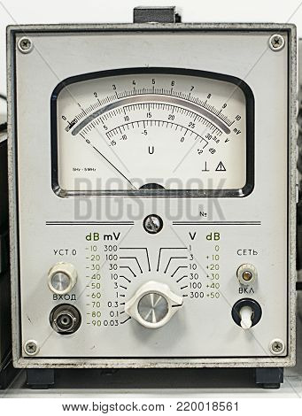 Micro value voltage and impendance indicator. Laboratory equipment.