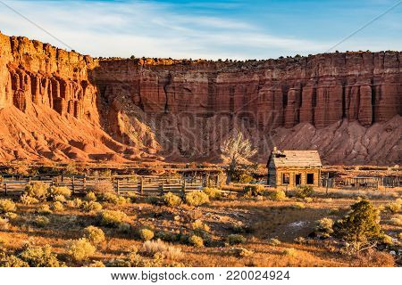 Abandoned Mormon Homestead near Capitol Reef National Park, Utah