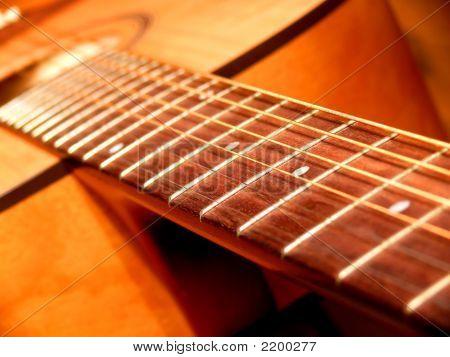Acoustic Guitar'S Fretboard